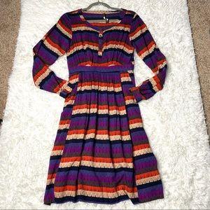 Plenty by Tracy Reese Striped Long Sleeve Dress